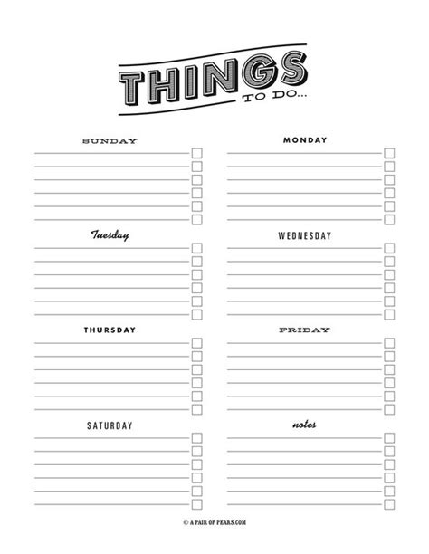 to do list template pdf free to do list