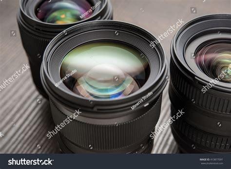interchangeable lense interchangeable lenses stock photo 413877091