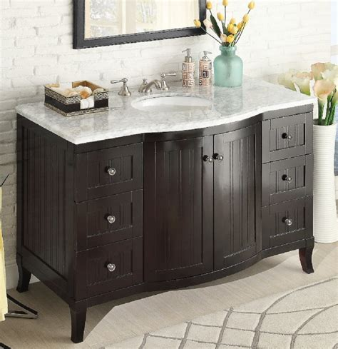 beadboard bathroom vanity 49 inch bathroom vanity cottage style beadboard