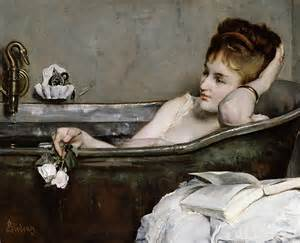Bath Painting by The Bath By Alfred George Stevens