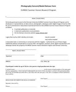 photography model release form template sle photography release form 10 exles in pdf word