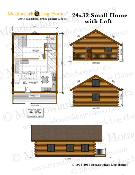 Small House Plans 24 X 32 24x32 Cabin Plans With Loft Images