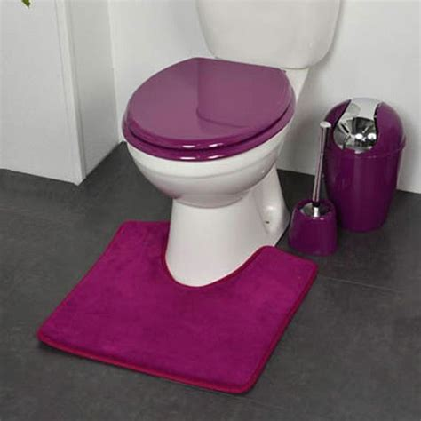 Toilette Avec Bidet Intégré by Tapis Contour Wc Design Violet Eminza