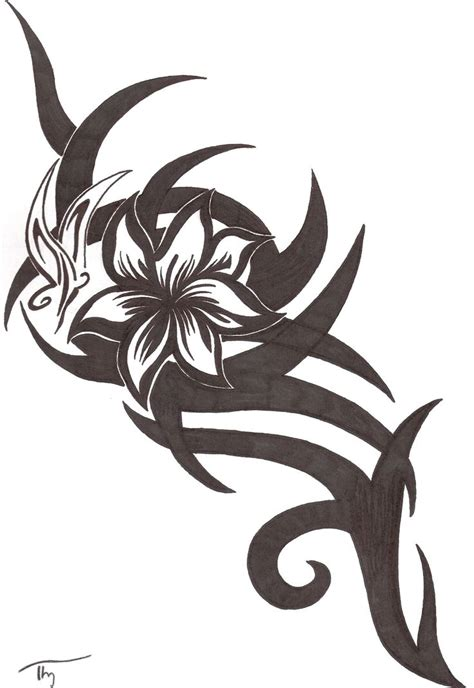 tribal floral tattoo best 25 tribal flower tattoos ideas on arm