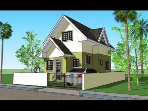 house plan with attic attic house model 3d elevations and plans youtube