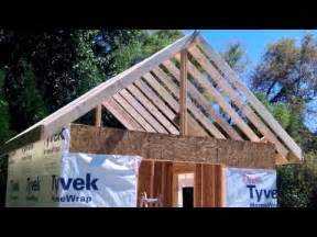 how to build a shed part 4a ridge beam rafters diy