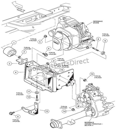 engine mounting club car parts accessories