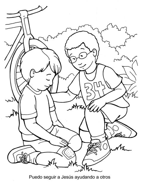 the good samaritan coloring page az coloring pages