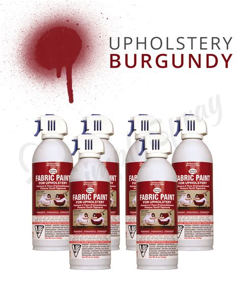 auto upholstery dye burgundy upholstery paint spray multipack fabric spray