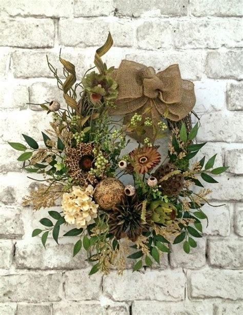 grapevine floral design home decor the burlap wreath picmia