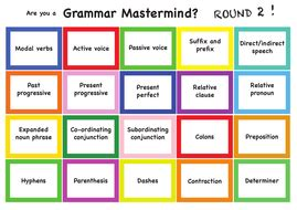 grammar board games ks2 printable are you a grammar mastermind revision for year 6 sats