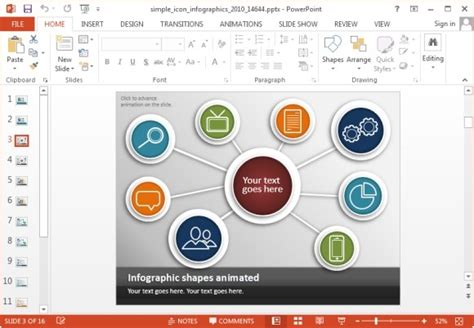free powerpoint templates infographics animated simple