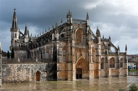 New House Plans With Interior Pictures old beautiful gothic cathedral interior in portugal