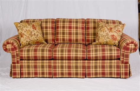 red plaid sofa broyhill broyhill blue plaid sofa glif org