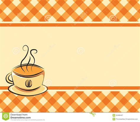 Checkered Coffee Vector Background Royalty Free Stock Photography   Image: 33486407