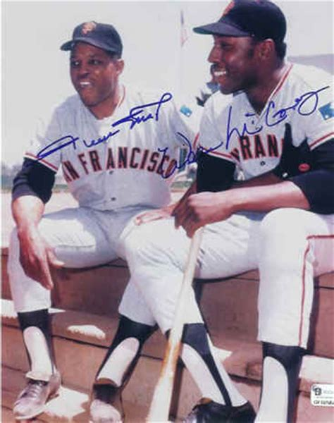 color run sf san francisco giants autographed willie mays mccovey photo