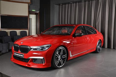 red bmw 2017 imola red bmw m760li xdrive with 3d design kit looks the