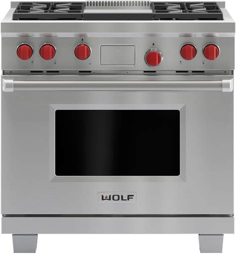 wolf dfg   pro style dual fuel range   dual