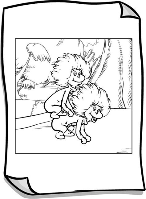 Thing 1 And Thing 2 Coloring Page Bbbblack Kitty Thing 1 And Thing 2 Coloring Pages