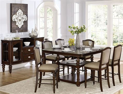 counter height dining room sets marston brown counter height dining room set from