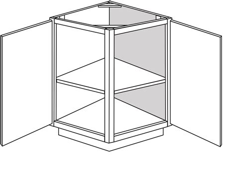 Angled Cabinet Doors - angled base end cabinet base 2 door the jsi store