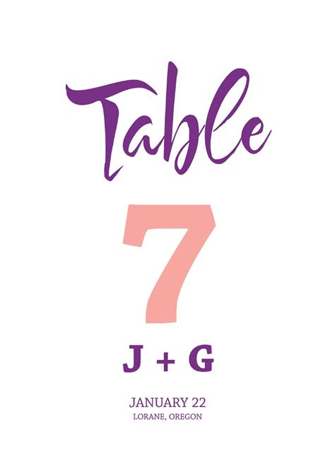 modern wedding table numbers print free wedding modern table number printable