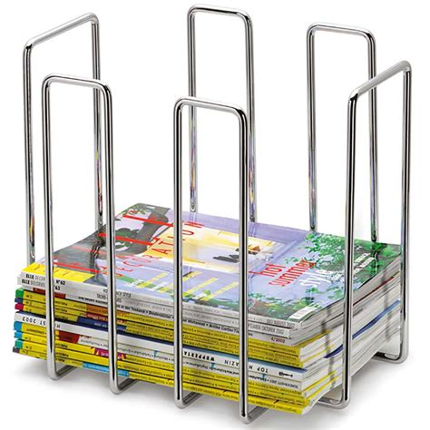 blomus stainless magazine rack in floor magazine racks