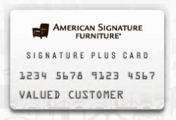 review american signature furniture credit card credit