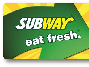 5 Subway Gift Cards - subway instant win game free 10 subway gift cards