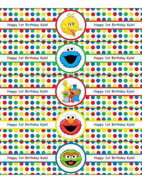 sesame label templates 53 best sesame st birthday images on birthday decorations cards and clothing
