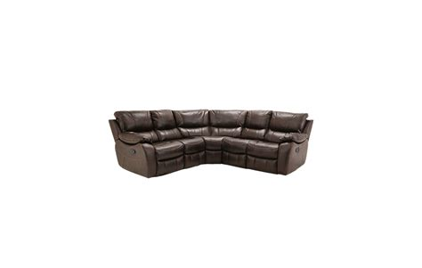 hanforth recliner leather corner sofa comfyland