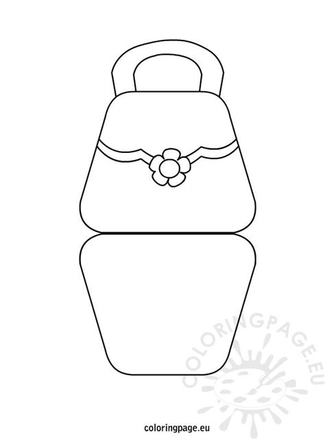 handbag card template free bag shaped s day card coloring page