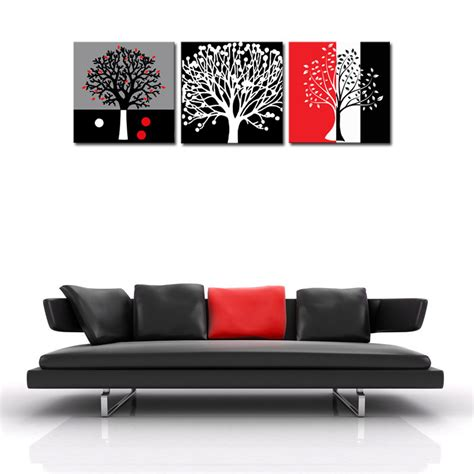 wall art home decor aliexpress com buy unframed 3 sets abstract tree modern