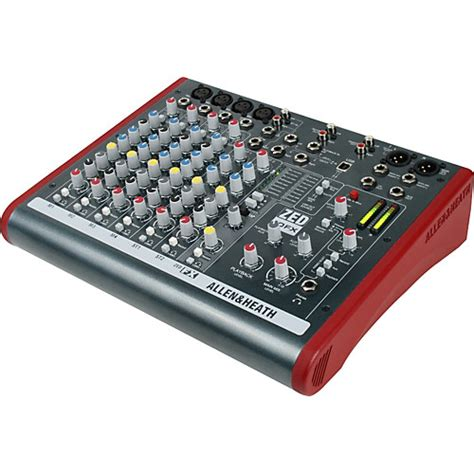 Mixer Audio Sound Sistem allen heath zed 10fx 10 channel usb mixer with effects musician s friend