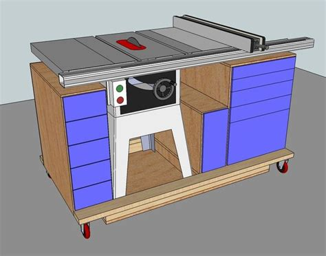 how to build a table saw workstation tablesaw workstation woodworking projects plans