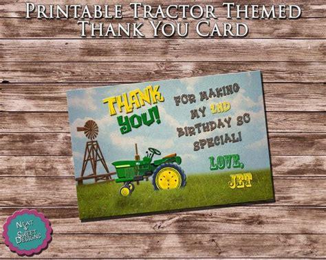 free printable john deere thank you cards printable quot tractor thank you card quot john deere themed