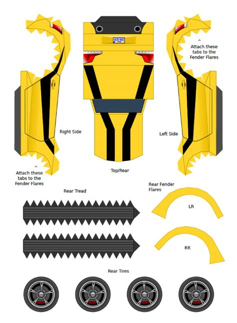 Papercraft Transformers Bumblebee - paper crafts transformer animated