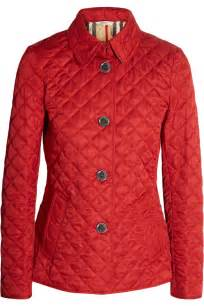 burberry brit quilted matte shell jacket in lyst