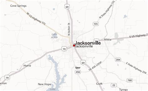 jacksonville texas map jacksonville texas location guide
