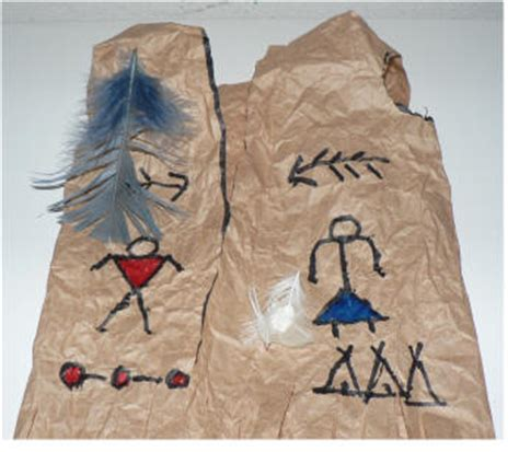 pattern for paper bag indian vest native american vest art lesson project
