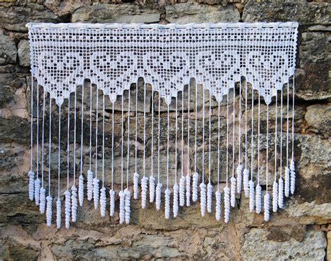 Rideaux Brise Vue by Rideau Crochet Brise Vue Fait 224 Motifs Coeurs Et