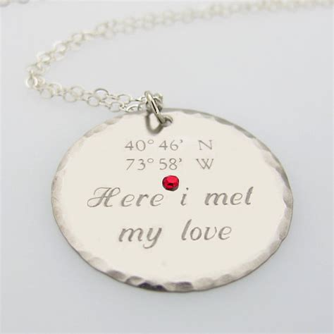 gifts for her romantic zoom with gifts for her romantic latitude longitude pendant gps engraved necklace