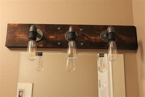 Diy Industrial Bathroom Light Fixtures Bathroom Lights Above Mirror