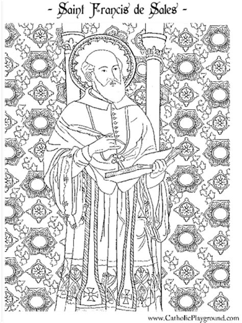 coloring book sles free coloring pages of francis de sales