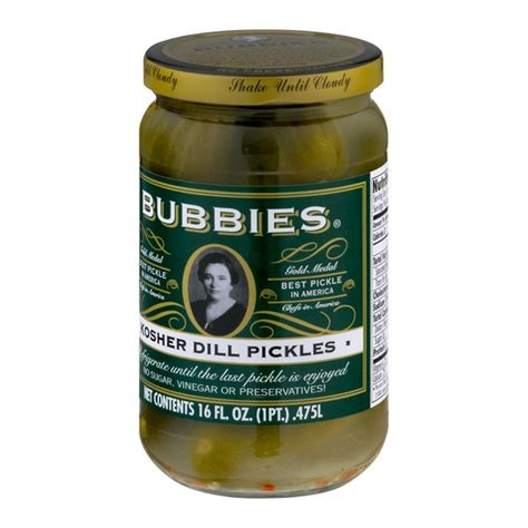 kosher pickles bubbies kosher dill pickles from rainbow grocery instacart