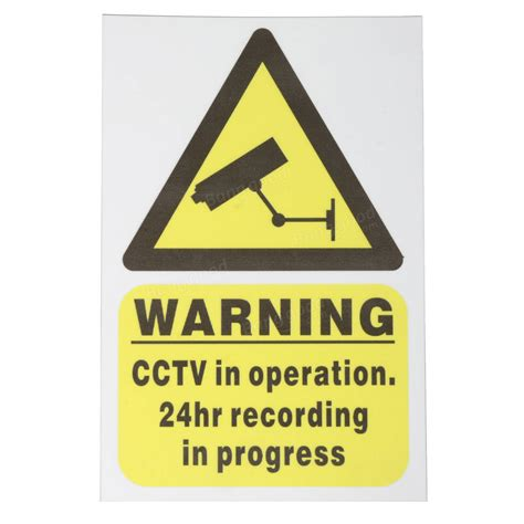 cctv recording cctv security warning sticker sign decal