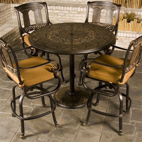 Sausan Set4 st moritz bar height patio furniture family leisure