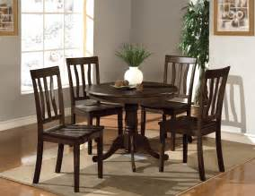 Kitchen Tables Sets 5pc Dinette Kitchen Set 36 Quot Table With 4 Wood Seat Chairs In Cappuccino Ebay