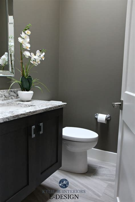 small bathroom powder room  sherwin williams anonymous