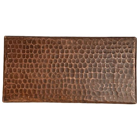 premier copper products 4 in x 8 in hammered copper decorative wall tile in oil rubbed bronze